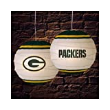 Green Bay Packers 18 Inch Rice Paper Lamp NFL Football Fan Shop Sports Team Merchandise