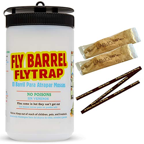 Amazon.com : Flies Be Gone KM34 Fly Trap Bait (2 Pack) 100% Non Toxic - Refill Lure Packs - Insect Attractant for Male, Female and Pesticide Resistant Flies ...