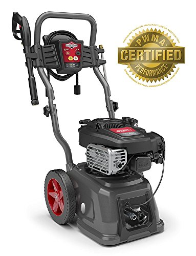 Briggs & Stratton Gas Pressure Washer 3100 PSI 2.5 GPM with Quiet Sense Technology and 30' Hose, 4 Nozzles & Detergent Tank ()