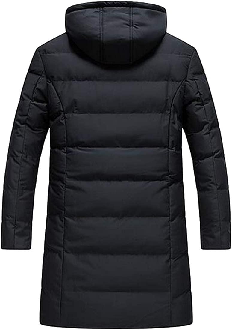 MMCP Men Loose Hoodie Thicker Winter Warm Down Quilted Jacket Coat Parka