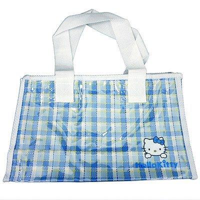Sanrio Hello Kitty Summer hand tote bag check BL / MSC1000BL (20)