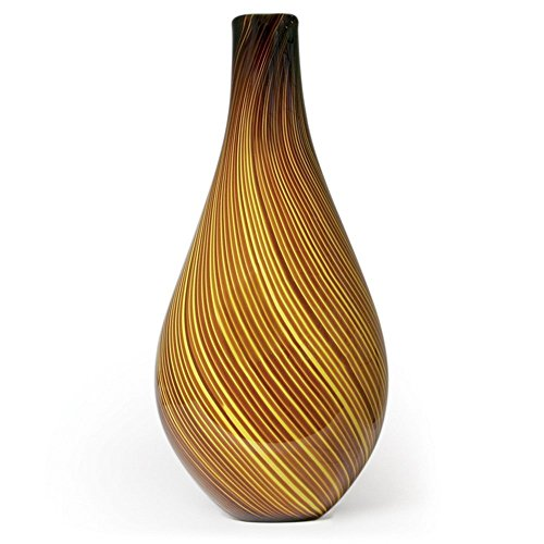 handmade-glass-yellow-roma-vase-20-tall-free-shipping-to-the-lower-48-on-orders-over-35