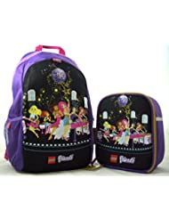 Lego Friends Heritage Pop Star 16 Backpack and Insulated Lunch Box Bundle