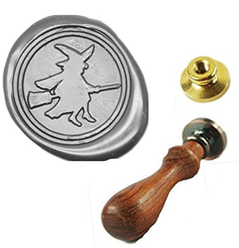 MDLG Vintage Witch Custom Picture Halloween Wedding Invitation Wax Seal Sealing Stamp Handle -