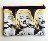 Marilyn Monroe Pencil Case/ Pouch (multipurpose) 8 in x 5.5 in.