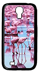 Brian114 Samsung Galaxy S4 Case, S4 Case - Black Hard PC Cases for Samsung Galaxy S4 I9500 Flamingoes Ultra Fit for Samsung Galaxy S4 I9500