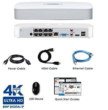 Lorex NR8182 8 Channel 4K Ultra HD NVR 2TB Surveillance System
