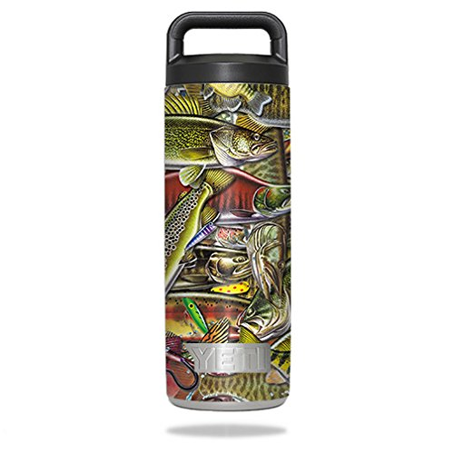 (MightySkins Skin Compatible with YETI Rambler Bottle 18 oz - Fish Puzzle | Protective, Durable, and Unique Vinyl Decal wrap Cover | Easy to Apply, Remove, and Change Styles | Made in The USA )