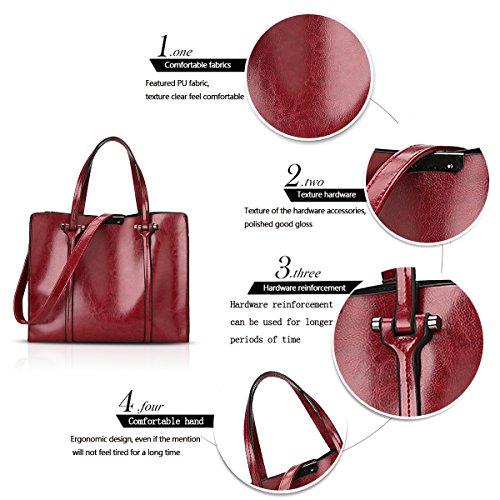 Rosso moda a signore cerata Sdinaz tracolla borsa borsa tracolla a 2018 borsa moda nuove a olio tracolla 7n6nqax0