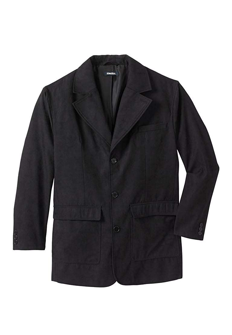 KingSize Men's Big & Tall Microsuede Blazer