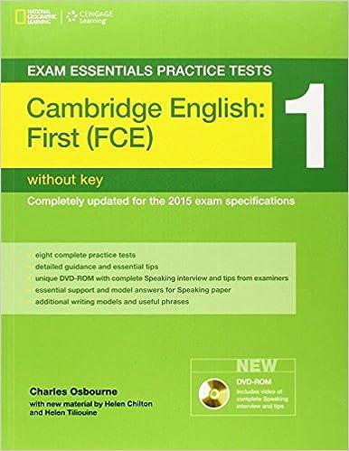 Book Exam Essentials: Cambridge First Practice Test 1without Key (Exam Essentials: Cambridge First Practice Tests)