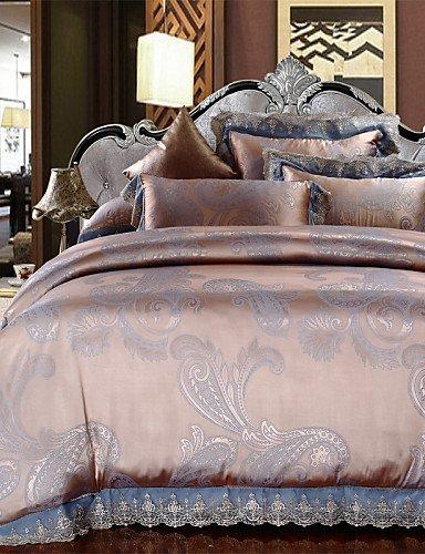 4f7cfada88 Sconto di vendita di biancheria da letto marrone chiaro Copriletto ELEGANTE  regali per la famiglia set