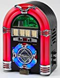 Steepletone Rock Mini LED Colour Changing Radio/CD/MP3 Jukebox - Black