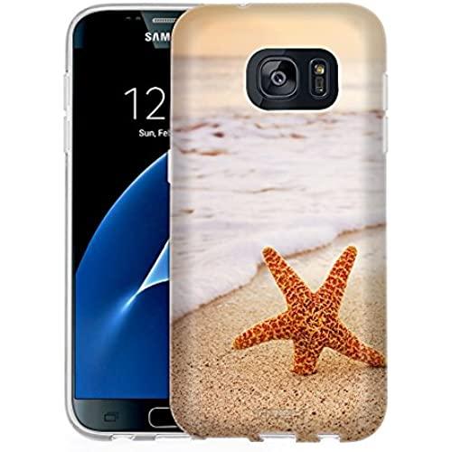Samsung Galaxy S7 Case, Snap On Cover by Trek Starfish on the Beach One Piece Slim Case Sales