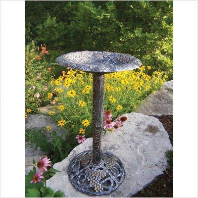 Oakland Living Vineyard Bird Bath, Antique Bronze