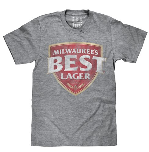 (Tee Luv Milwaukee's Best Lager T-Shirt - Licensed Beer T-Shirt (X-Large)  Graphite Snow Heather )