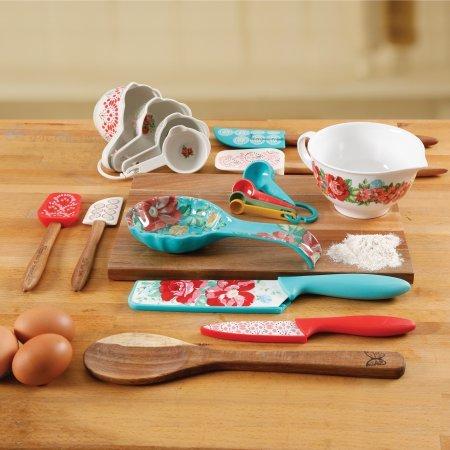 The Pioneer Woman 20 Piece Kitchen Gadget Utensil Set (Vintage Floral)