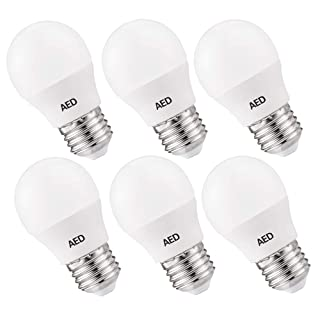 AED A15 LED Light Bulbs, 25-30W Equivalent, 250 Lumens, 2700K Warm White, E26 Medium Screw Base, Non-dimmable, Small LED Globe Light Bulbs for Ceiling Fan and Vanity Mirror, 6Packs
