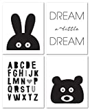 """nursery room ideas 8""""x10"""" Black and White Nursery Prints for Baby and Children Room Decor & Decorations Perfect for Baby Shower Gift Ideas"""