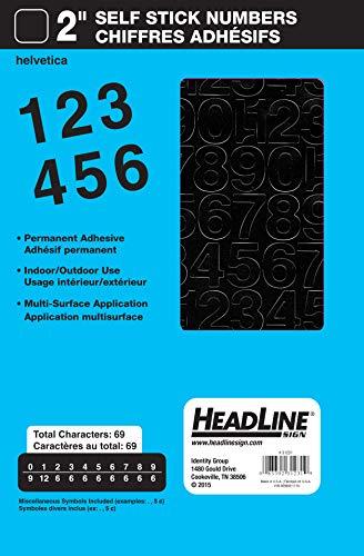 Headline Sign 31231 Stick-On Vinyl Numbers, Black, - Vinyl Numbers Stickers