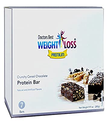 Doctors Best Weight Loss - Crunchy Chocolate Cereal Protein Diet Bar (7/box)