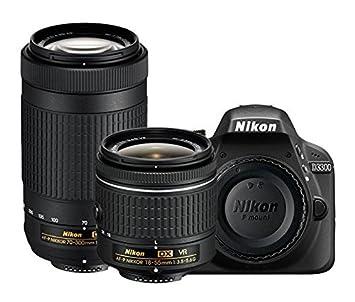 Nikon D3300 24.2MP Digital SLR (Black) + AF-P DX NIKKOR 18-55mm f/3.5-5.6G VR Lens + AF-P DX NIKKOR 70-300mm f/4.5-6.3G ED VR Lens + Memory Card(16 GB) + Camera Bag