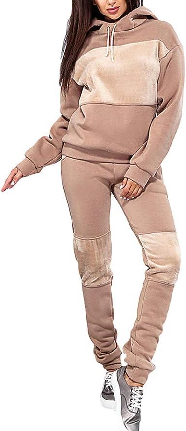 Yingshu Chándal de Terciopelo Casual Mujer suéter con Capucha ...