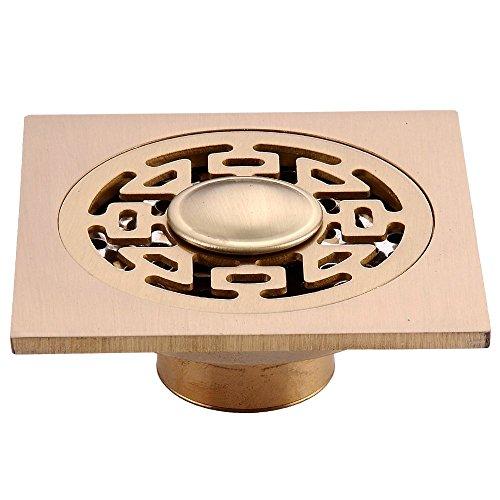 Square Floor Waste Grates Bathroom Shower Drain Copper Strainer 4 Inch