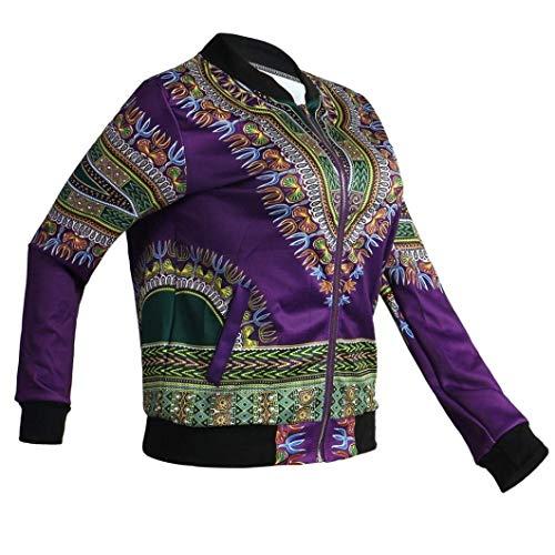 Ragazze Con Giacche Donna Primaverile Stampato Moda Lunga Outerwear Cappotto Festa Di Violett Fashion Elegante Manica Hipster Casuali Autunno Style Giaccone Cerniera 1wwxAHq