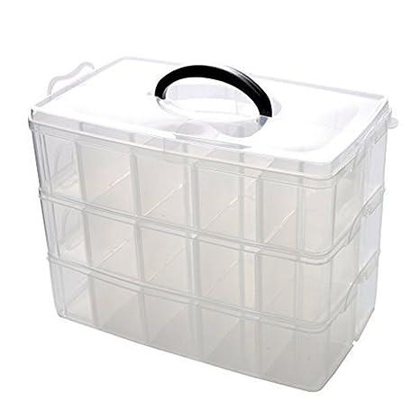 Ardisle Krishan Trading 3 suelos de plástico cuentas Joyero organizador compartimento para caja de herramientas