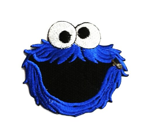 Cookie Monster Iron on Patch Fabric Applique Motif Sesame Street Decal ()