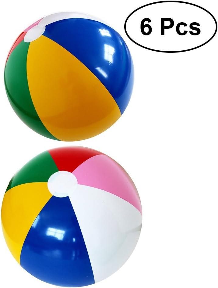 YeahiBaby 6pcs Pelota Hinchable de Fiesta de Color del Arco Iris ...