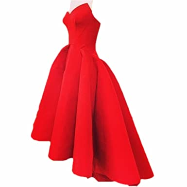 Zhu Li Ya Womens Red Short Front Long Back Prom Dresses Evening Party Gowns (XS