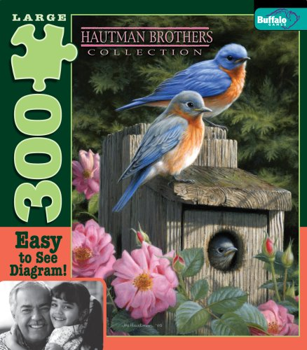 Buffalo Games Hautman 300 - Garden Bluebirds