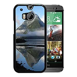Unique DIY Designed Cover Case For HTC ONE M8 With Mitre Peak New Zealand Nature Mobile Wallpaper Phone Case
