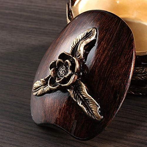 灰皿 アウトドア屋内使用のための手彫りの葉のパターンを有する蓋ヴィンテージ樹脂卓上タバコの灰皿、防風喫煙アッシュトレイ、レトロブロンズ色とヨーロッパの白鳥灰皿 SLDLC