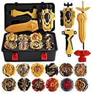 HNZHB 12 Pcs Bayblades Burst Turbo Gyros Top Evolution Metal Fusion Bay Blade Battle Gyro Battling Tops Game S