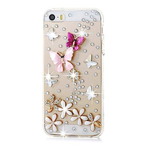 iPhone 6/6s Case,HAOTP(TM) 3D Handmade Bling Crystal Lovely - Flower Diamond