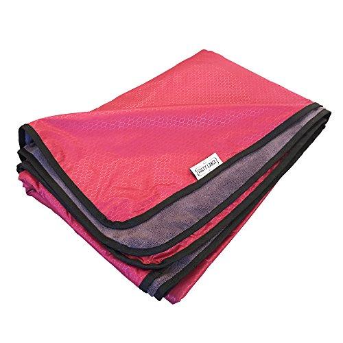 Picnic Stadium Blanket (XL Outdoor Stadium Windproof Waterproof Fleece Blanket For Picnic & Camping (Red))