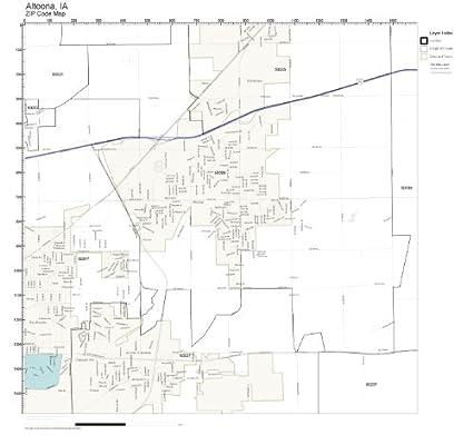 Amazon.com: ZIP Code Wall Map of Altoona, IA ZIP Code Map