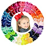 6 Inch Large Baby Girls Hair Bows Barrettes Clip Holders Accessories For Toddler Girls 30 Pcs (30 Pcs)