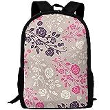 OIlXKV Beautiful Little Flower Print Custom Casual School Bag Backpack Multipurpose Travel Daypack For Adult