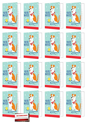 Puppy Dog 16 Foldover Invitations Birthday Party Supplies Value Pack Plus Party Planning Checklist
