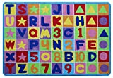 3 feet letters - Kids Area Rug Design Letters and Numbers (3 Feet 3 Inch X 4 Feet 10 Inch)