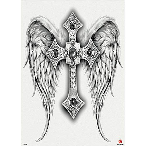 3Pcs-Full Back Tattoo Stickers Grandes Zhang Erlang Dios Sirena ...