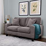 Serta RTA Palisades Collection 61' Loveseat in Glacial Gray