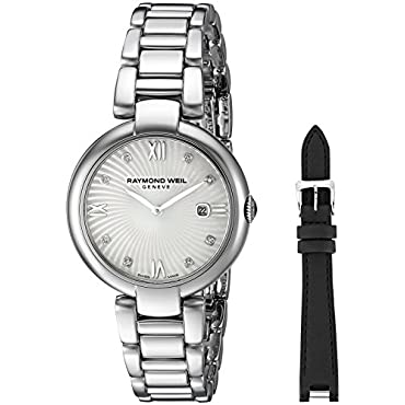 Raymond Weil Women's 'Shine' Swiss Quartz Stainless Steel Watch, Color:Silver-Toned (Model: 1600-ST-00995)