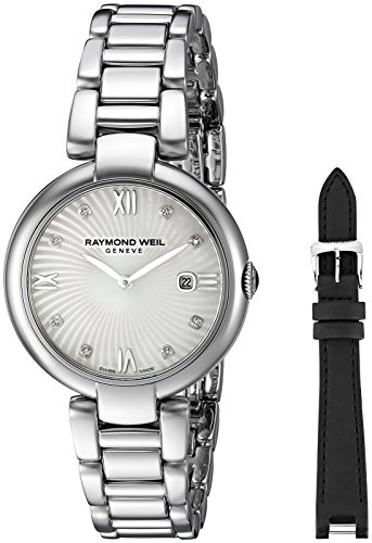 - Raymond Weil Women's 'Shine' Swiss Quartz Stainless Steel Watch, Color:Silver-Toned (Model: 1600-ST-00995)