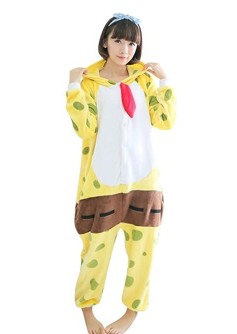 Keral adulto Anime Cosplay Halloween disfraz traje Kigurumi pijama SpongeBob Asie-Small