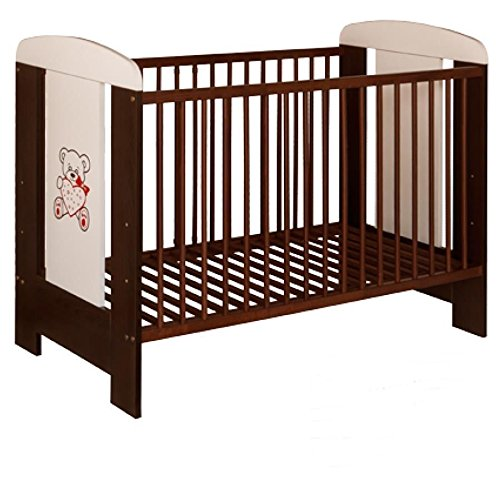Best For Kids Gitterbett My Sweet Baby Kinderbett Babybett braun 3 Teile 120x60 ohne Matratze
